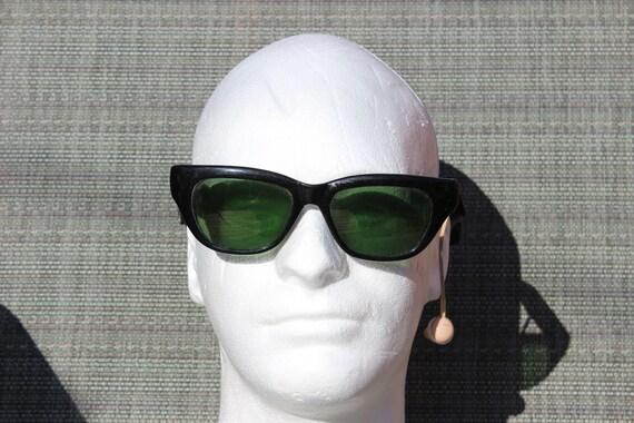 Vintage Hearing Aid Sunglasses With Earpiece ..Secret Agent Costume???