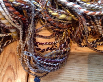 Handspun yarn with funny details
