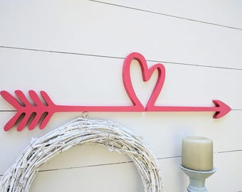Heart Arrow for Nursery   Girls nursery arrow   Nursery Decorations for girls  