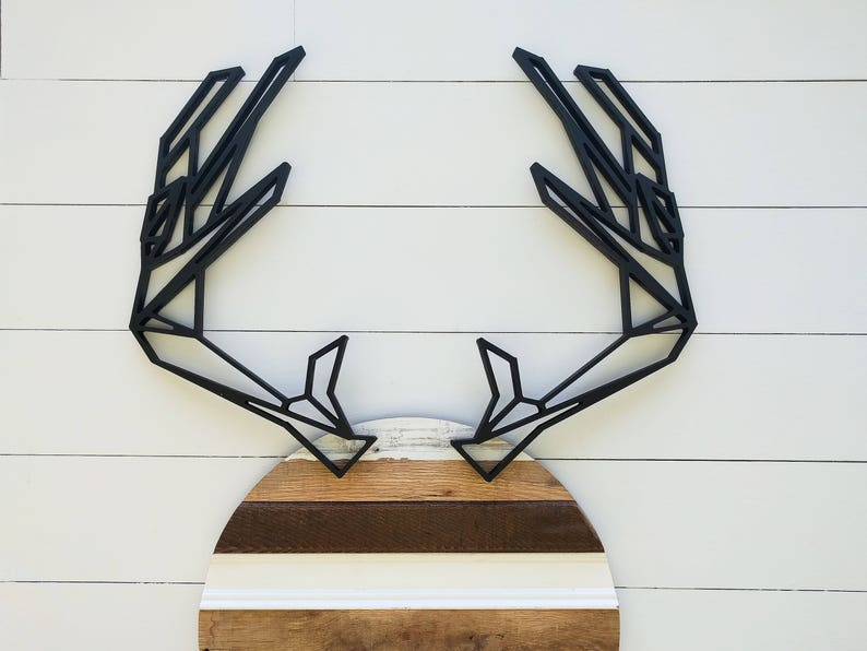 Deer antlers geometric woodland antlers wall decor Rustic Modern Antlers Geometric Antlers Wall Hanging Hunting decor