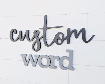 Word cutouts, custom wood letters, custom wooden sign, last name sign, wood sign, word cutout sign, custom sign, family name sign