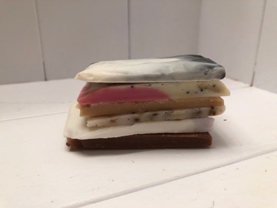 Soap Stack, 6 slices of soap ends