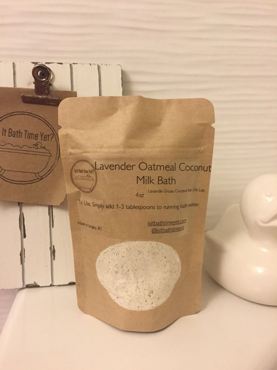 Lavender Oatmeal  Coconut Milk Bath