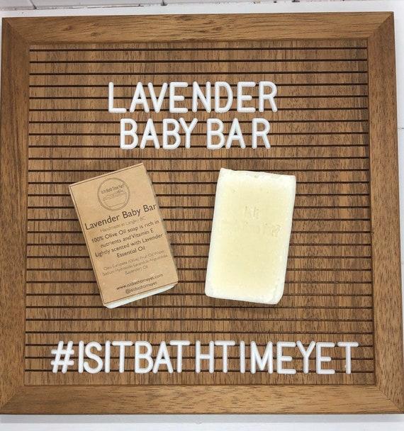 Lavender Baby Bar , pure castile soap, Lavender