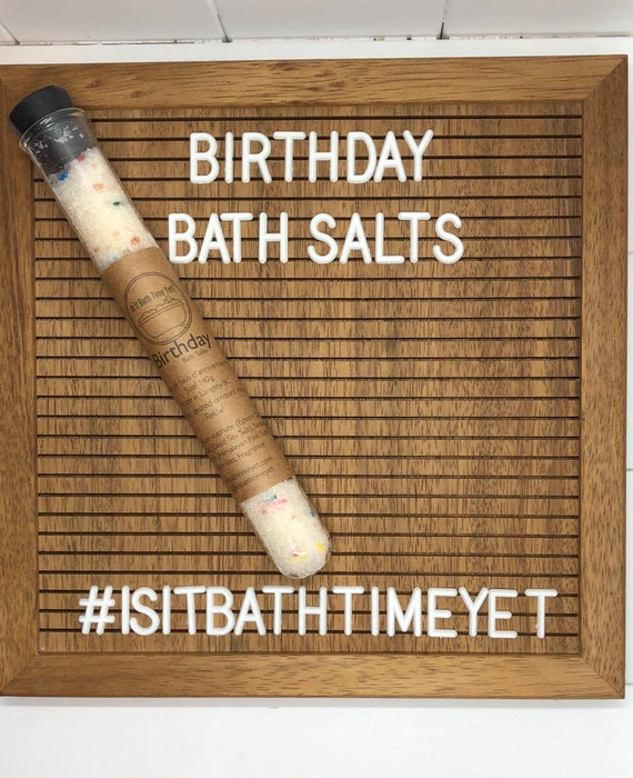 Birthday Bath Salts, Happy Birthday, Dead Sea Salt, luxury bath
