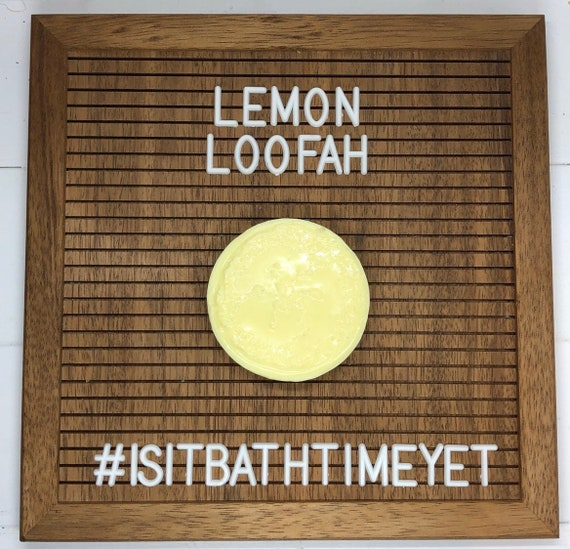Lemon Loofah Soap