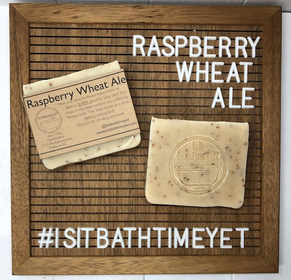 Raspberry Wheat Ale Soap//beer soap