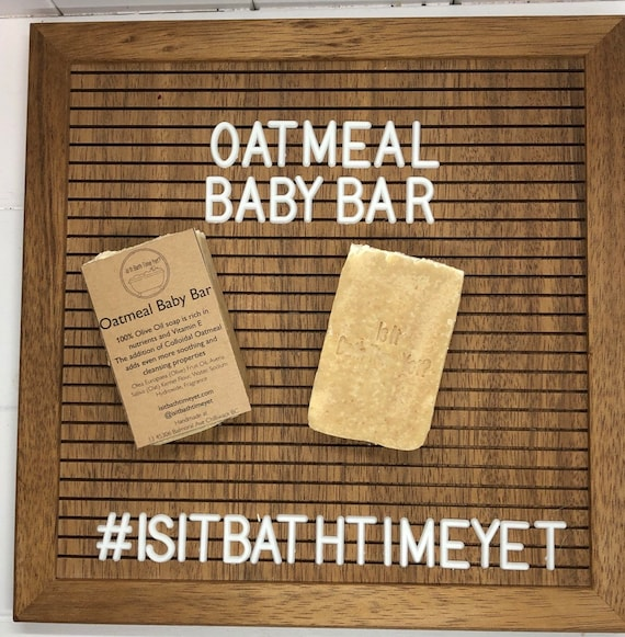 Oatmeal Baby Bar , pure castile soap