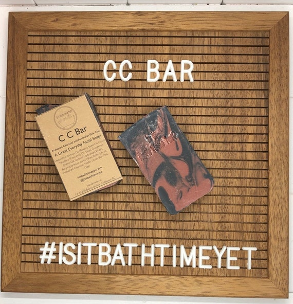 CC bar// Activated Charcoal & Pink Australian Clay Soap
