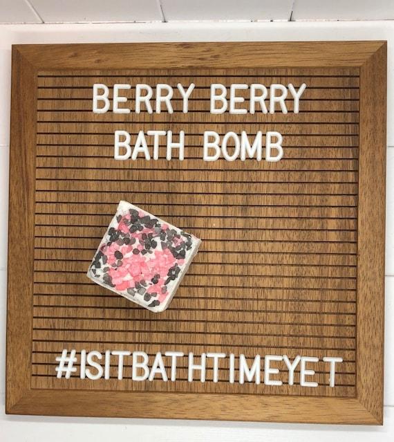 Berry Berry Bath Bomb, Coconut Oil