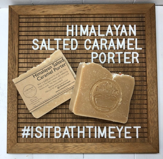Himalayan Salted Caramel Porter Soap//beer soap