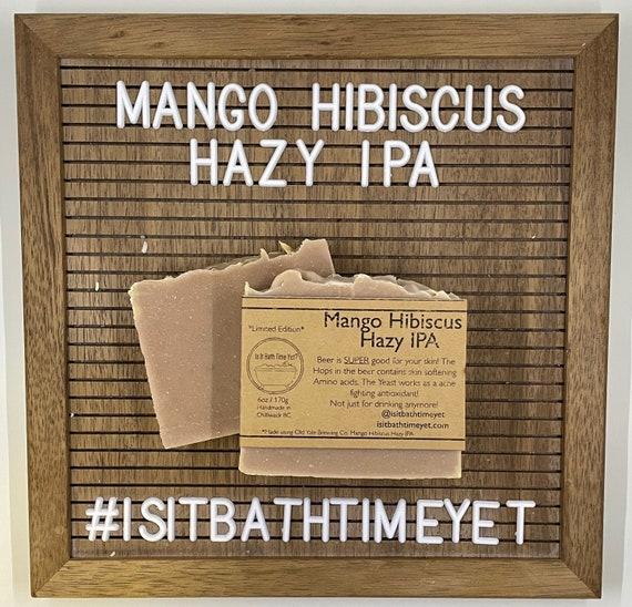 Mango Hibiscus Hazy IPA //beer soap
