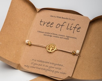 Tree Of Life Bracelet Wish Friends Birthday Gift For Sister Hostess Under 10 Mom
