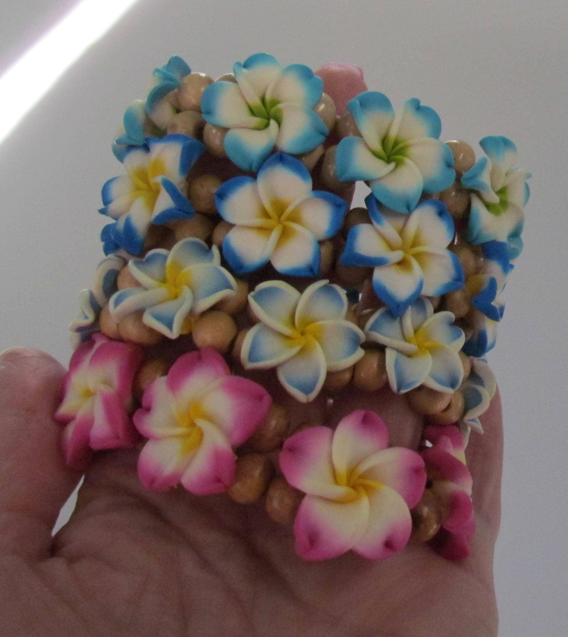 Hawaiian Bracelet Plumeria Anklet Plumeria Bracelet Polymer