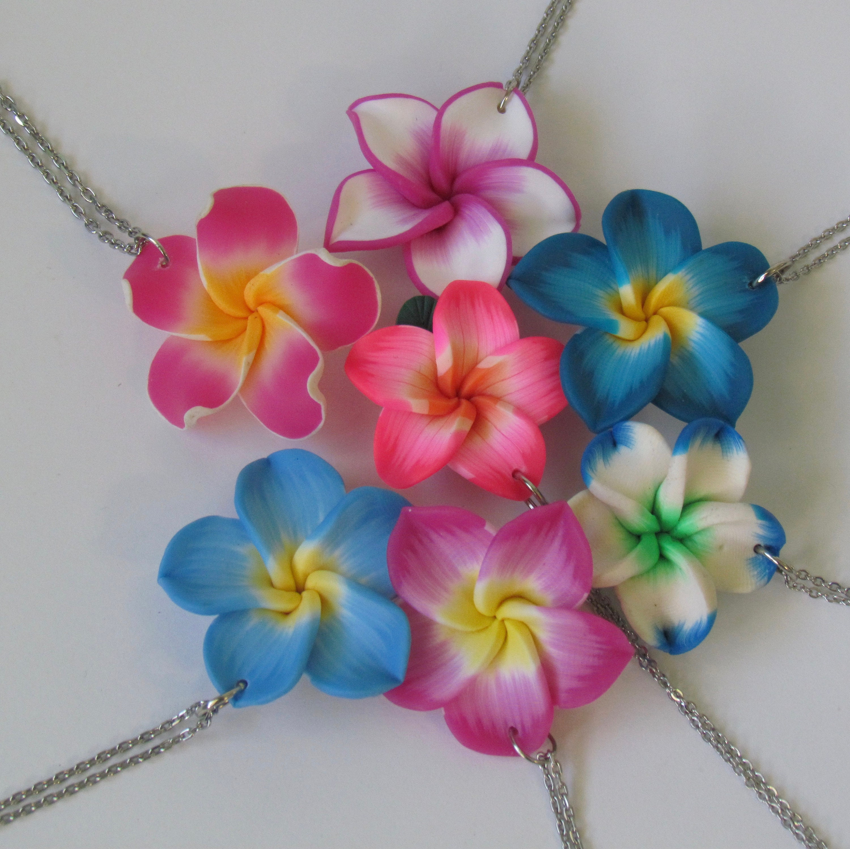 Plumeria Jewelry Plumeria Necklace Plumeria Earring Tropical