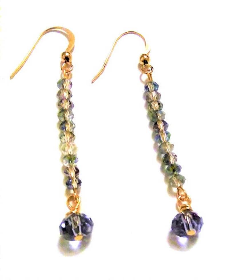 Everyday Drop Earrings Blue Earrings Party Earrings Beautiful Earrings Gift Denim Blue Dangle Crystal Earrings Bohemian Style Jewelry