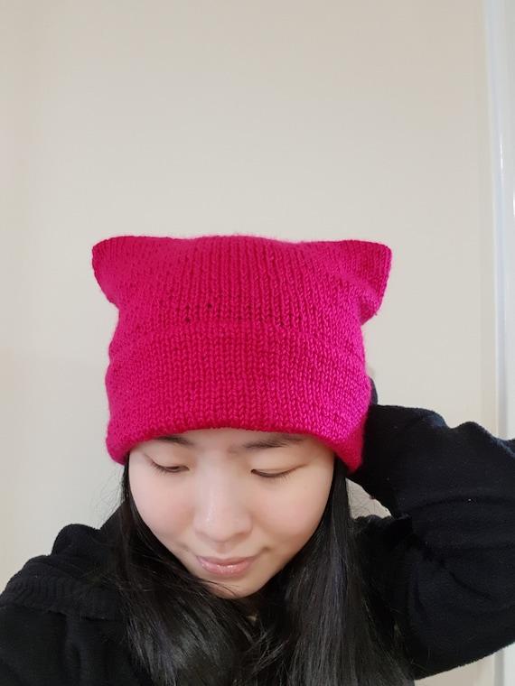 832ac642920 READY TO SHIP-Double Brim Cat Ear beanie Multi colour Knit