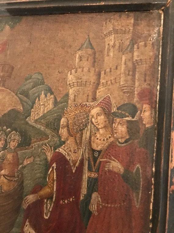 La Paire Faussaire Espagnol De Peintures Médiévales