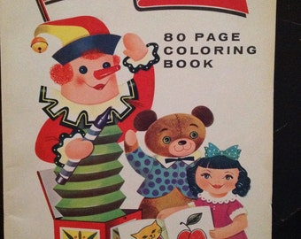 Woolworths Coloring Book Vintage Unmarked 1955 Banner Year 10c Dick Hart Western Printing