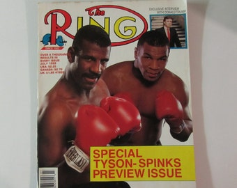 The Ring Magazine July 1988 Mike Tyson/Donald Trump