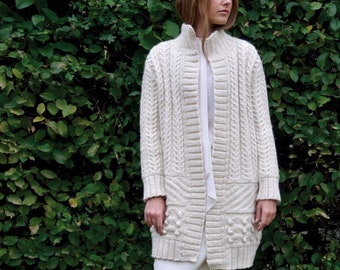 17 Colors Chunky Knit Cardigan Bulky Cardigan Wool Etsy