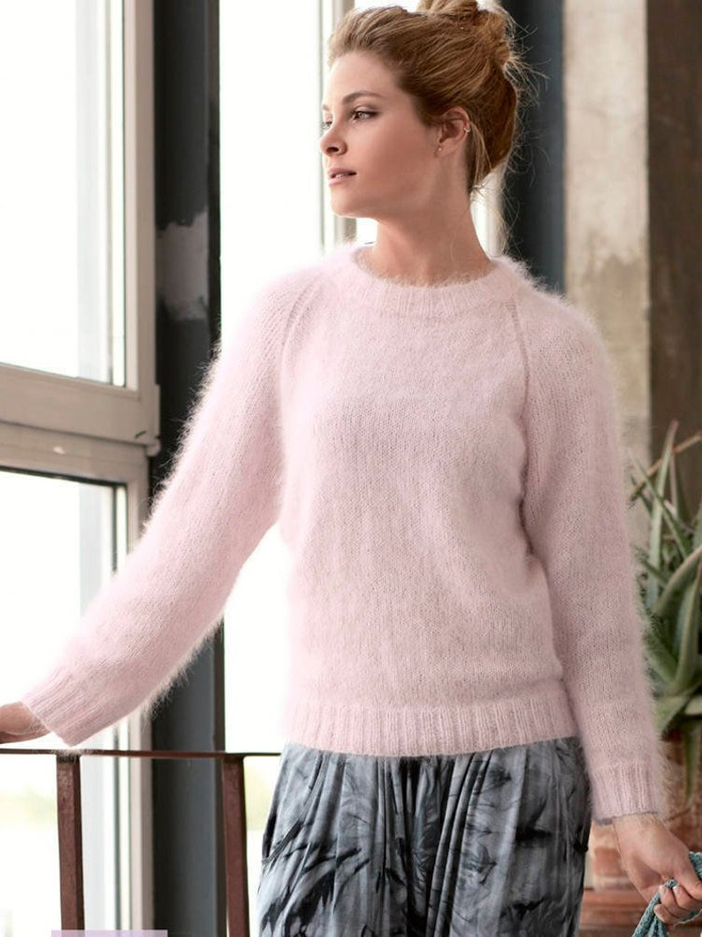 d836676ff Angora sweater for women Knitted Wool sweater Plus size