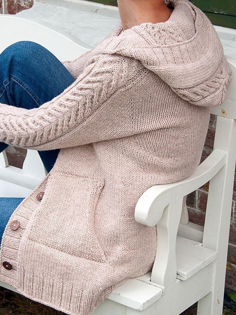 4d7272a84a0 17 colors Women Chunky knit coat with hood Bulky coat