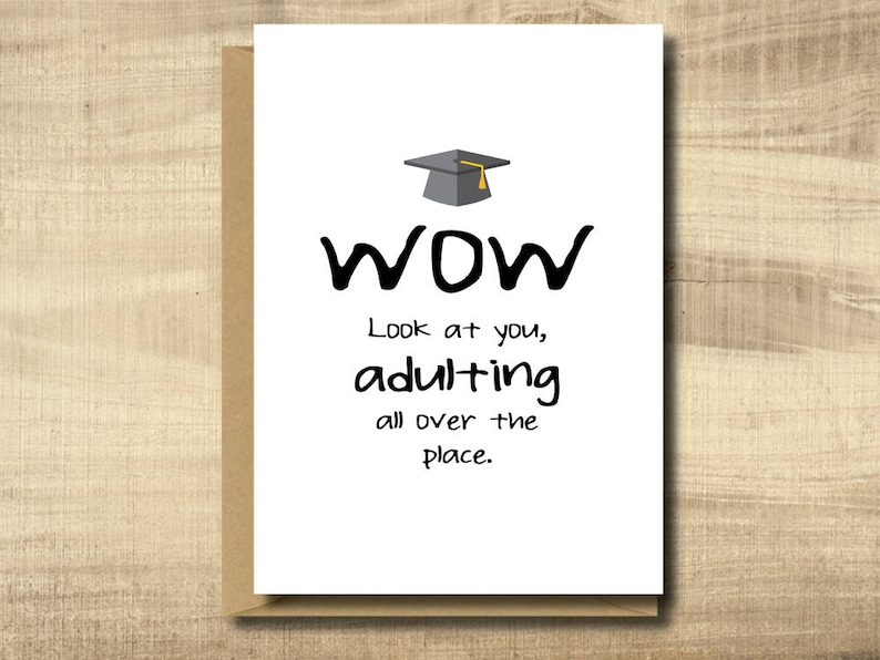 photo about Printable Graduation Cards identify Printable Commencement Card -- Crank out Your Personalized Playing cards at Residence, immediate obtain, Do-it-yourself Card, humorous commencement card