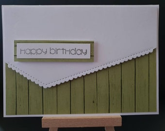 Birthday Card- Wood Grain
