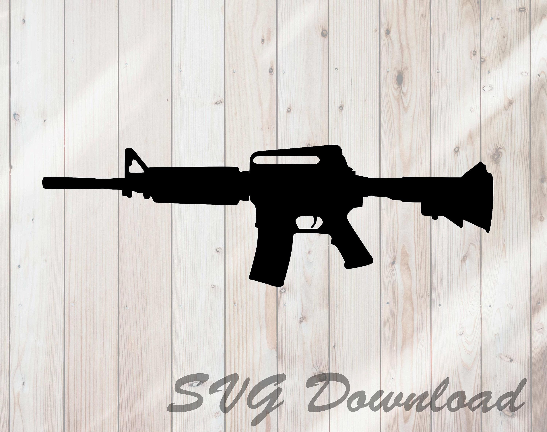 AR15 Semi Automatic Rifle SVG Instant Download / Vinyl & Craft Cutting  File, Die Cut, Template, Clip Art Digital Download