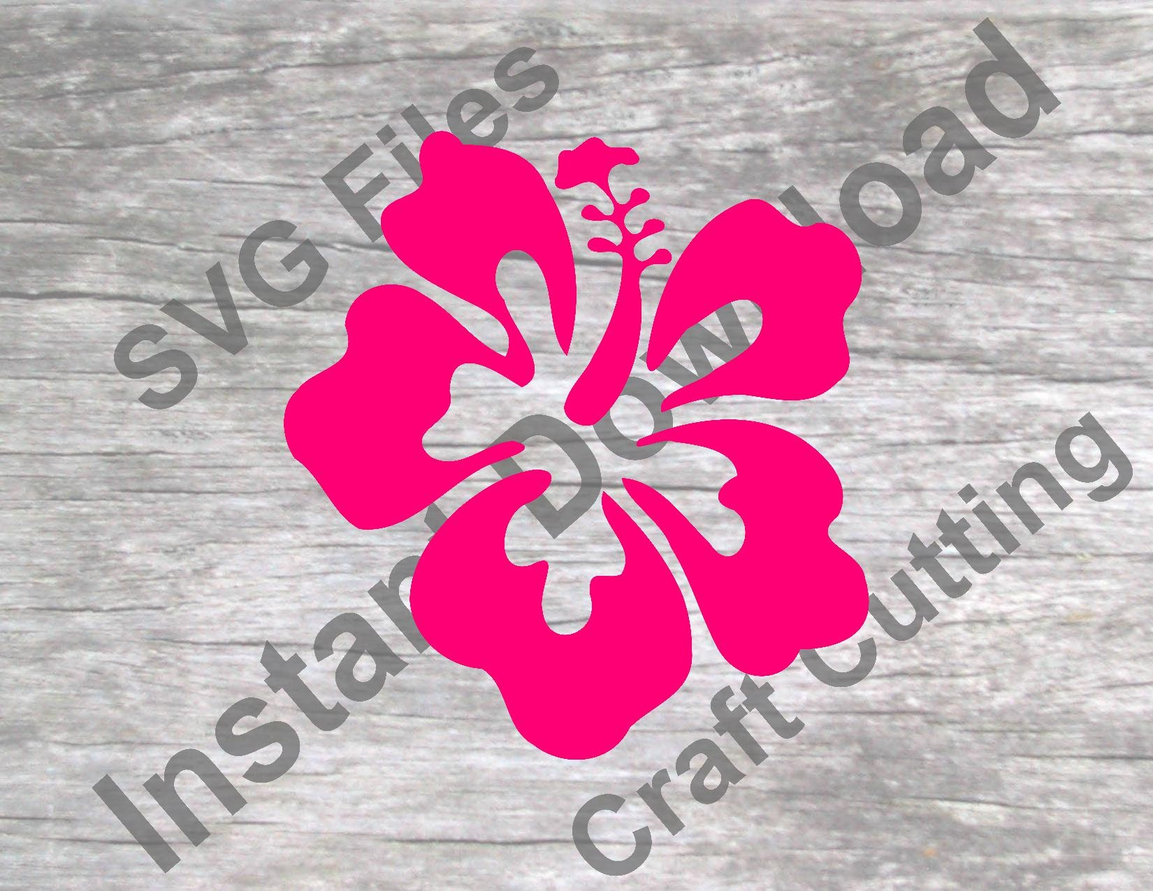 Hibiscus Tropical Flower Svg Vinyl And Craft Cutting File Etsy