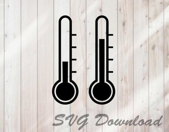 Thermometers Svg Hot Cold Temperature Icon Svg Vinyl Etsy