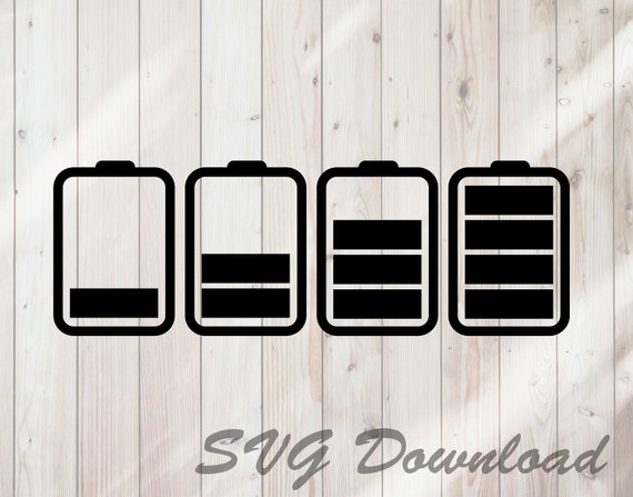 Battery Life Icons Svg Instant Download Vinyl Craft Etsy