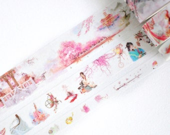 Oriental Princess Pink Washi Tape, Washi Tape Set