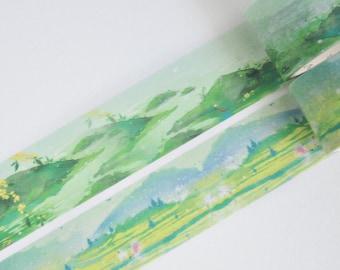 Green Landscapes Washi Tape, Masking Tape