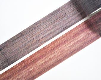 Dark Wood Washi Tape, Wide Masking Tape - WT424