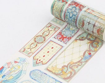 Stained Glass Washi Tape, Wide Washi Tape - WT482