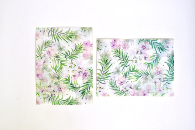 Hawaiian Summer Translucent Watercolour Envelope Set, Letter Envelopes