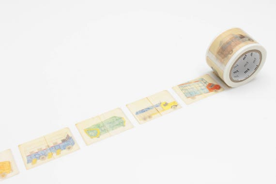 MT Ex Philippe Weisbecker Car Washi Tape, MT Masking Tape - MTWEIS03