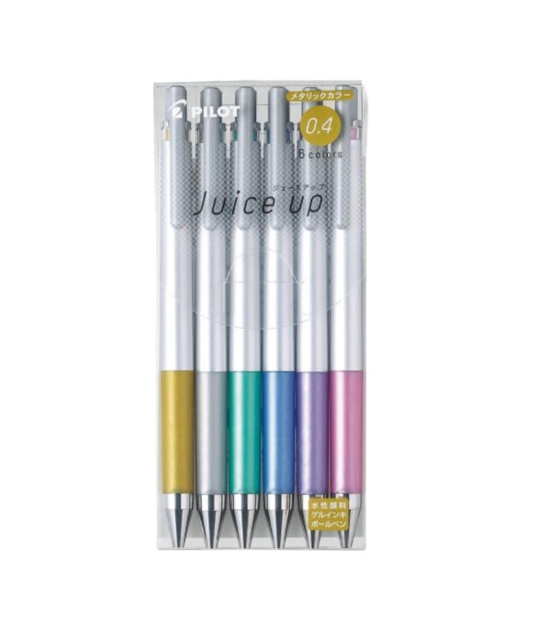Roller Ball Pen Set 6 pack Pilot Pen Juice Up Metallic Roller Ball Pen