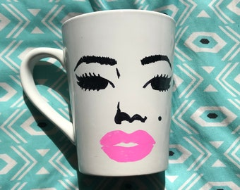 Marilyn Monroe Mug Hand-Painted