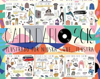 Illustrated Calendar 2019 MUSICAL