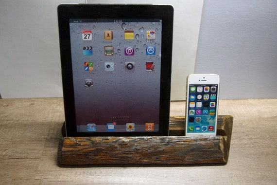 ipad st nder iphone st nder holz ipad stand rustikale. Black Bedroom Furniture Sets. Home Design Ideas