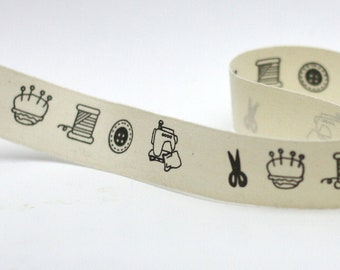 Printed ribbon, bias, ribbon gift wrapping, twill cotton ribbon.