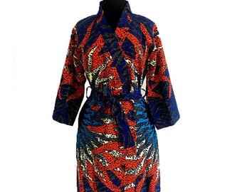 dac141495cf8 African print robe