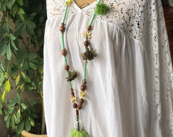 Necklace beads and tassels