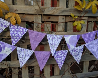 nursery baby shower flags or banner for child/'s bedroom Jewel coloured bunting Handmade bunting
