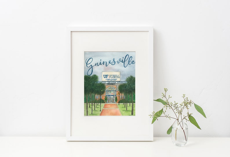 Gainesville Watercolor Painting