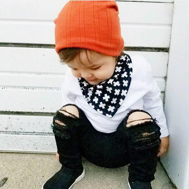 e66118238a6d Black Peek-A-Boo Unisex Skinny jeans boys girls denim