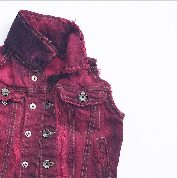 Cherry Soda Denim Vest
